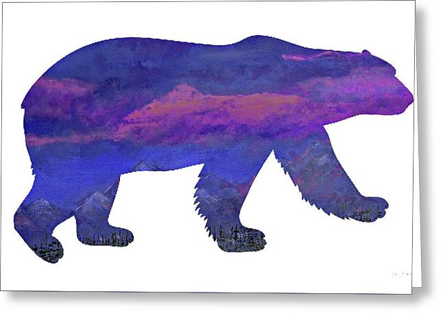 Bear Greeting Card by Ken Figurski