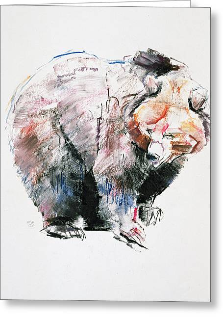 Conte Greeting Cards - Bear Greeting Card by Mark Adlington