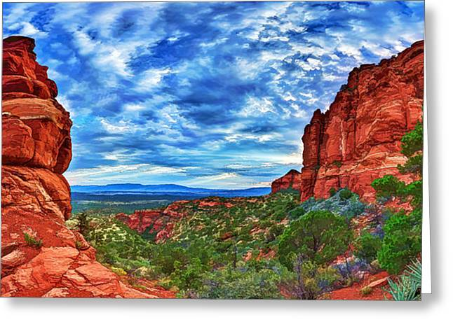 Colorful Cloud Formations Digital Greeting Cards - Bear Mountain Hoodoo 1 Greeting Card by Bill Caldwell -        ABeautifulSky Photography