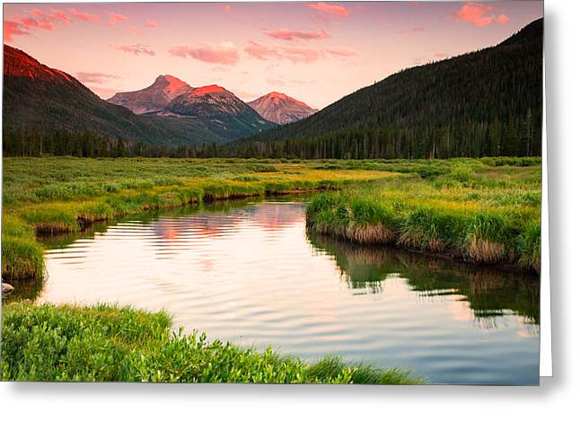 Beautiful Scenery Greeting Cards - Bear River Sunset Greeting Card by Johnny Adolphson