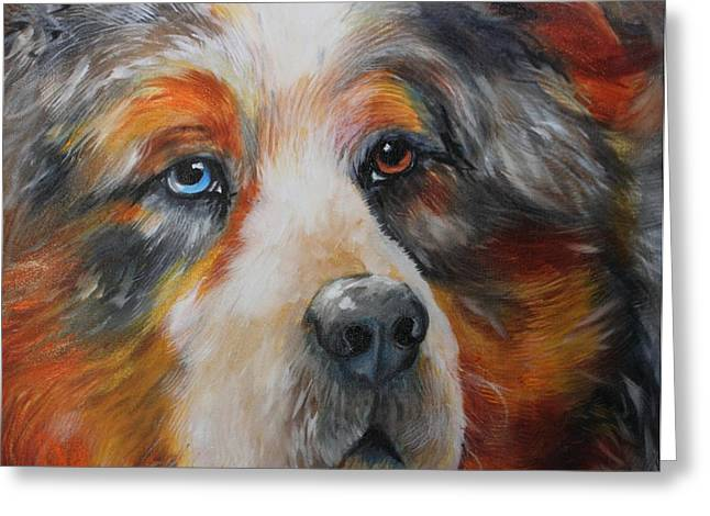 Catahoula Greeting Cards - BEAR the CATAHOULA CUR Greeting Card by Marcia Baldwin