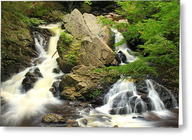 Bear's Den Waterfall New Salem Ma Greeting Card by John Burk
