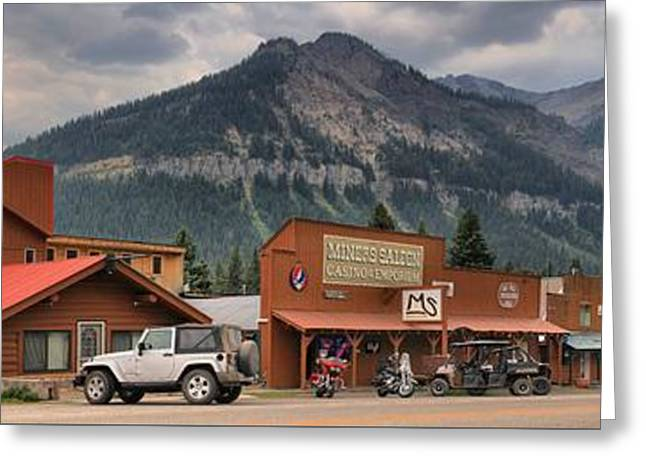 Saloons Greeting Cards - Beartooth Mountains Over Cooke City, MT Greeting Card by Adam Jewell