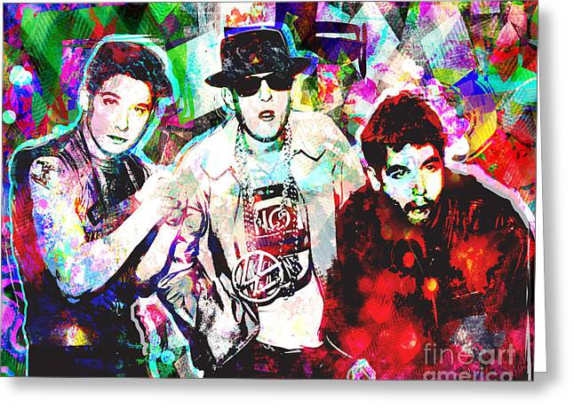 Hiphop Greeting Cards - Beastie Boys Art Greeting Card by Ryan RockChromatic