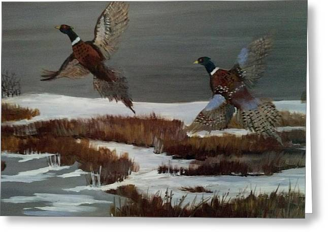 Take Over Paintings Greeting Cards - Beat Of Wings Greeting Card by Kathy Felchle