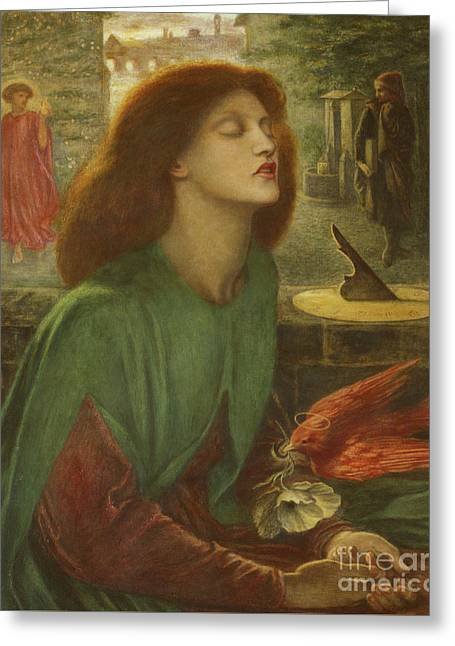Beata Beatrix Greeting Card by Dante Gabriel Charles Rossetti