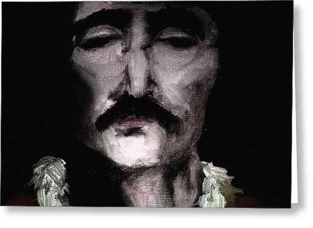 Fab Four Greeting Cards - Beatle John Greeting Card by Nicholas Ely