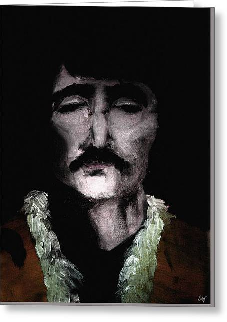 The Beatles. Celebrity Portraits Greeting Cards - Beatle John Greeting Card by Nicholas Ely