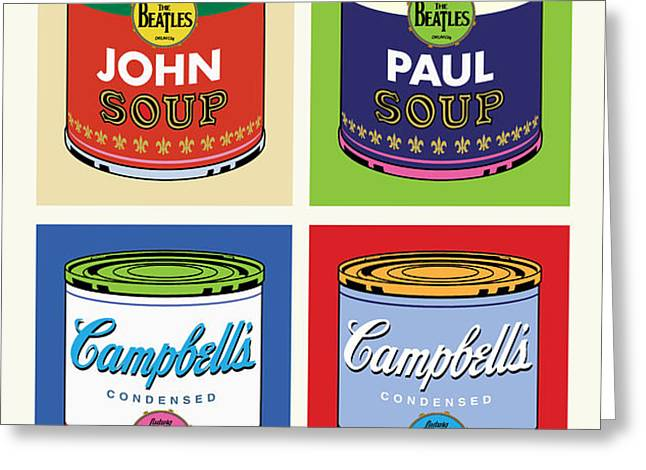 Beatles Soup Greeting Card by Gary Grayson
