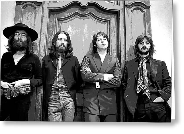 Penny Lane Greeting Cards - Beatles Together For Last Time Greeting Card by Daniel Hagerman