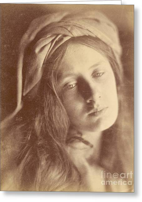 Beatrice Greeting Card by Julia Margaret Cameron