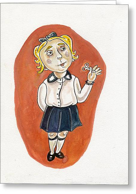 Becky Greeting Cards - Beatrice Yakovy Illustration Greeting Card by Karl Frey