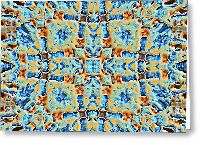 Beautiful Abstract Tile Greeting Card by Susan Leggett