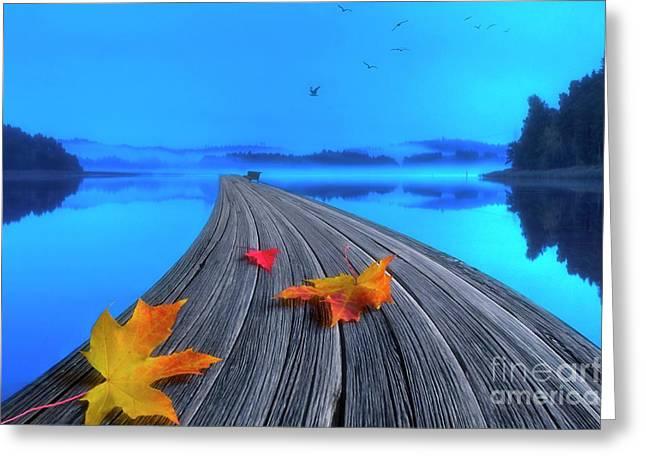 Beautiful Autumn Morning Greeting Card by Veikko Suikkanen
