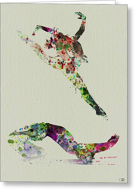 Dating Paintings Greeting Cards - Beautiful Ballet Greeting Card by Naxart Studio
