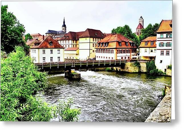 Kirsten Giving Greeting Cards - Beautiful Bamberg on the River Greeting Card by Kirsten Giving