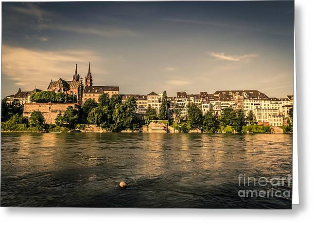 Swiss Photographs Greeting Cards - Beautiful Basel Greeting Card by Stephen Allen
