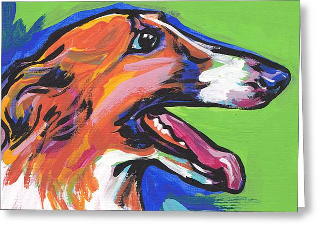 Sight Hound Greeting Cards - Beautiful Borzoi Greeting Card by Lea