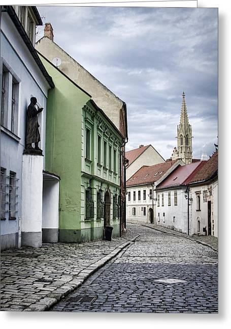 Old Neighbourhood Greeting Cards - Beautiful Bratislava Greeting Card by Heather Applegate