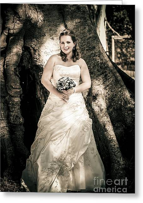 Beautiful Bride At Outback Wedding In Australia Greeting Card by Jorgo Photography - Wall Art Gallery
