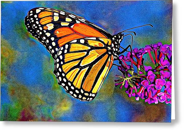 Enhanced Greeting Cards - Beautiful Butterfly Greeting Card by Patrick Witz