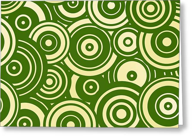 Modern Christmas Mod Circle Pattern Greeting Card by Tina Lavoie