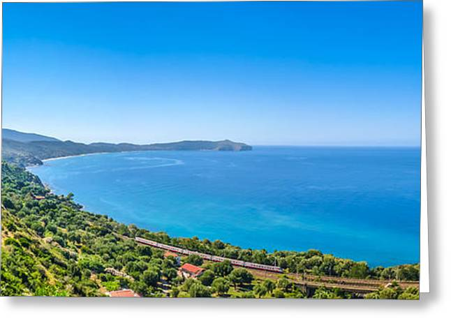 Beautiful Coastal Landscape At The Cilentan Coast, Campania, Sou Greeting Card by JR Photography