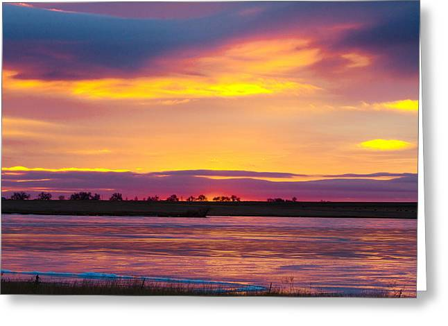 Beautiful Colorful Boulder County Winter Morning Greeting Card by James BO  Insogna