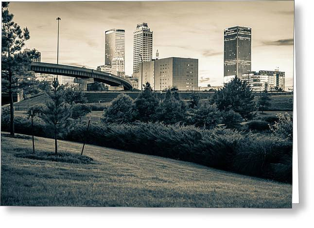 Beautiful Contrasts Of Tulsa Oklahoma Greeting Card by Gregory Ballos