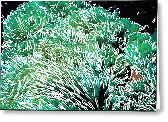 Doughboy Paintings Greeting Cards - Beautiful coral reef 2 Greeting Card by Lanjee Chee