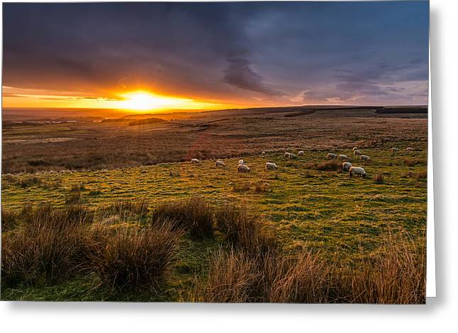 Tranquility Greeting Cards - Beautiful Countryside Sunset. Greeting Card by Daniel Kay