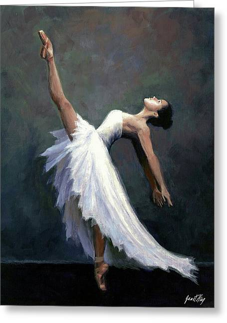 Beautiful Dancer Greeting Card by Janet King