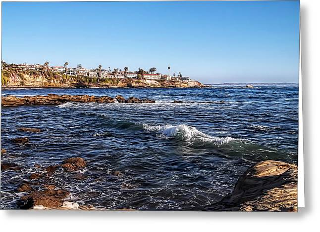 California Beach Art Digital Art Greeting Cards - Beautiful Day In La Jolla Greeting Card by Glenn McCarthy Art and Photography