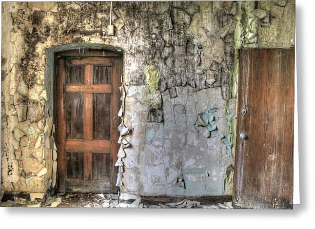 Public Schools Greeting Cards - Beautiful Decay Greeting Card by Jane Linders