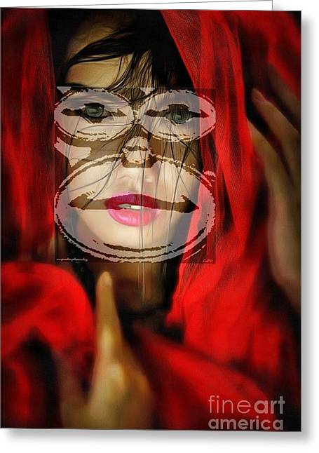 Print On Canvas Greeting Cards - Beautiful Faces Of Culture Greeting Card by Catherine Lott