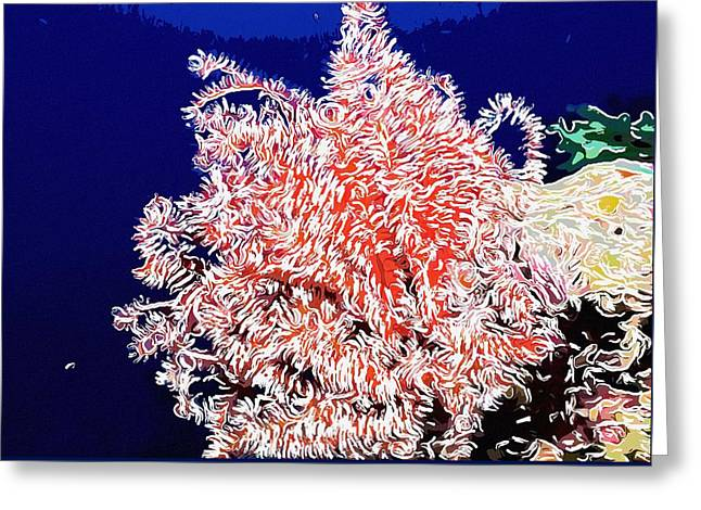 Seastar Paintings Greeting Cards - Beautiful fan coral Greeting Card by Lanjee Chee
