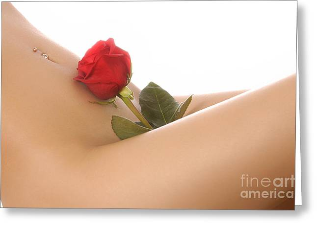 Beautiful Female Body Greeting Card by Oleksiy Maksymenko