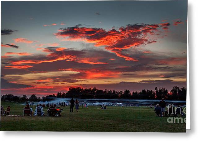 Bale Greeting Cards - Beautiful Fourth Of July Sunset Greeting Card by Robert Bales
