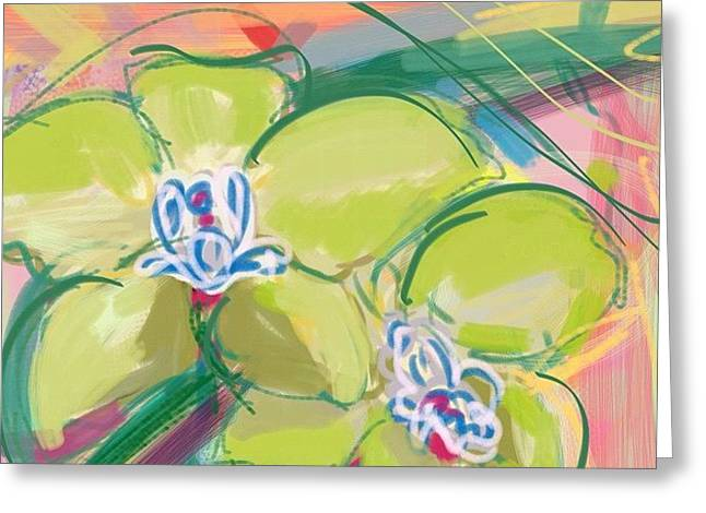 Aha Greeting Cards - Beautiful green orchids Greeting Card by Amy  Hashim
