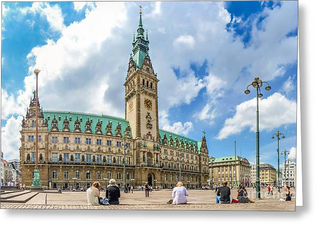 Altstadt Greeting Cards - Beautiful Hamburg town hall Greeting Card by JR Photography
