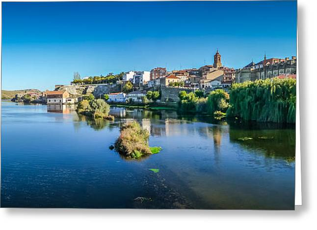 Historic Architecture Greeting Cards - Beautiful historic city Alba de Tormes, Castilla y Leon, Spain Greeting Card by JR Photography