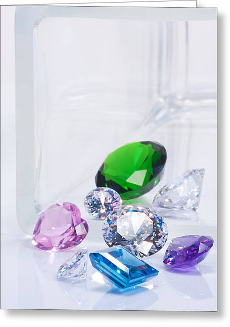 Precious Treasures Greeting Cards - Beautiful Jewel Greeting Card by Atiketta Sangasaeng