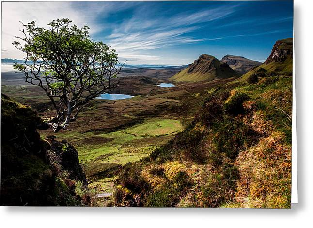 Beautiful Scenery Greeting Cards - Beautiful Landscape View of Quairaing Scotland Greeting Card by Tobias