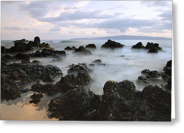 Foggy Beach Greeting Cards - Beautiful Makena Coast Greeting Card by Jenna Szerlag