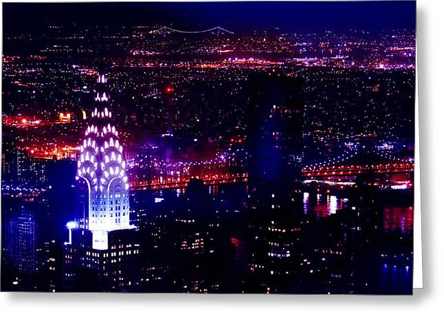 Beautiful Manhattan Skyline Greeting Card by Az Jackson
