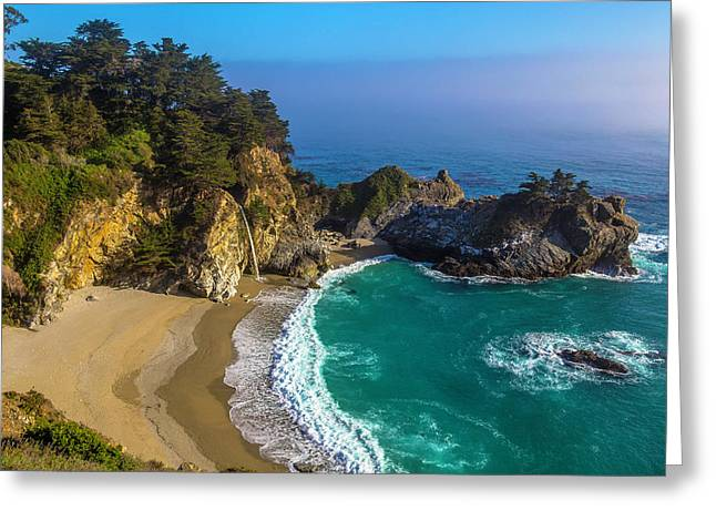 Beautiful Mcway Falls Cove Greeting Card by Garry Gay