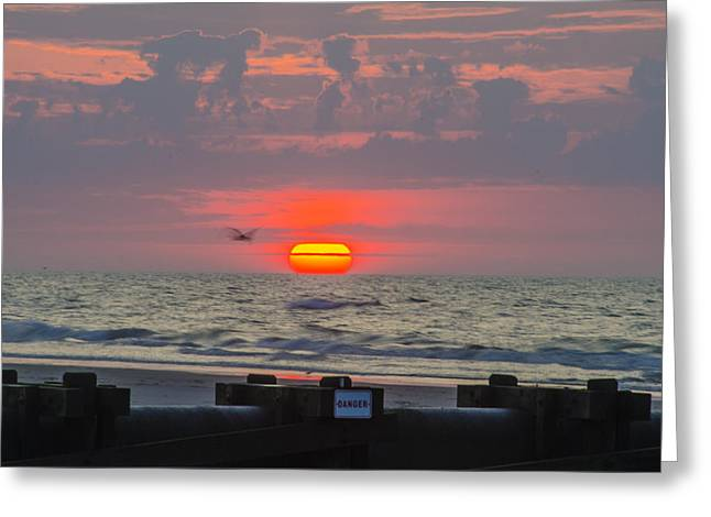 Beach Photography Greeting Cards - Beautiful Morning - Beautiful Sunrise Greeting Card by Bill Cannon