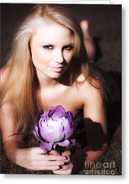 Youthful Photographs Greeting Cards - Beautiful Nature Woman Greeting Card by Ryan Jorgensen