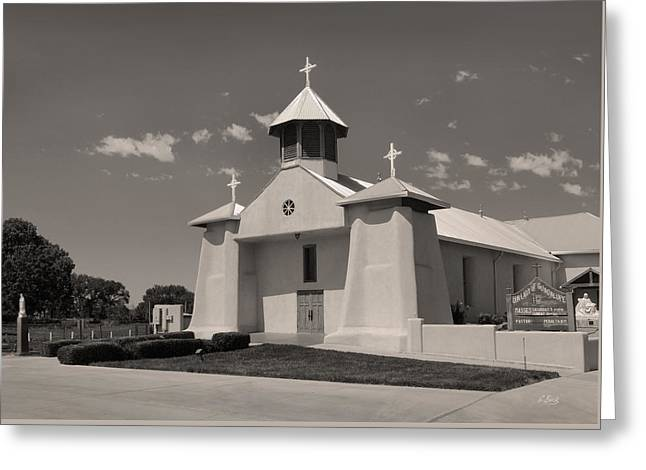 Our Lady Of Guadalupe Greeting Cards - Beautiful New Mexico Church Greeting Card by Gordon Beck
