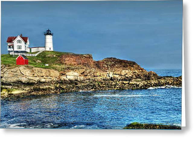 Cape Neddick Greeting Cards - Beautiful Nubble Lighthouse Greeting Card by Michael Ciskowski